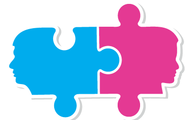 Counseling Image (Puzzle pieces with faces on the end of puzzle piece